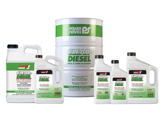 Clear Diesel Fuel Amp Tank Cleaner Power Service